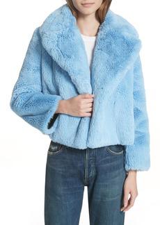 Diane Von Furstenberg DVF Faux Fur Jacket