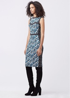 DVF GORJANA SILK JERSEY FITTED DRESS
