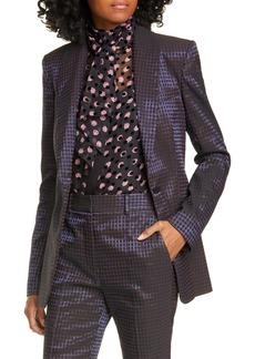 Diane Von Furstenberg DVF Halzie Dot Jacquard Jacket
