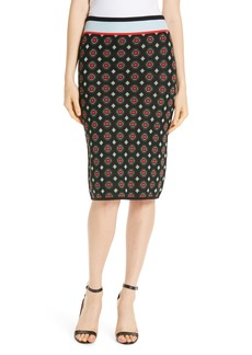 Diane Von Furstenberg DVF Hans Geo Jacquard Pencil Skirt