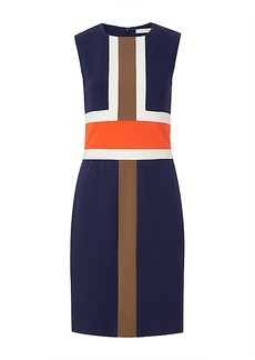DVF Hazeline Fitted Colorblock Dress