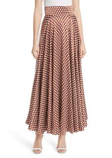 Diane Von Furstenberg DVF High Waist Dot Maxi Skirt