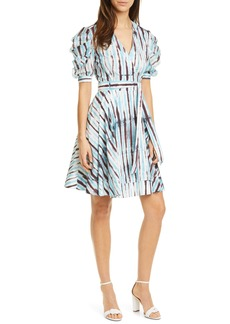 Diane Von Furstenberg DVF Indra Cotton Poplin Wrap Dress