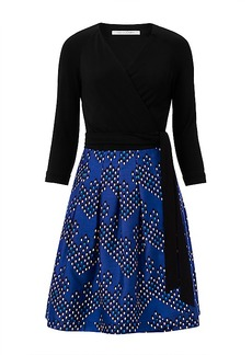 DVF Jewel Silk and Wool Wrap Dress