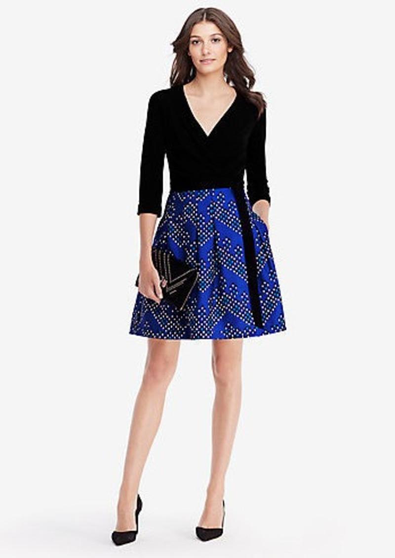 Diane Von Furstenberg DVF Jewel Silk and Wool Wrap Dress