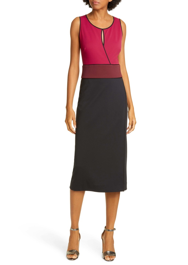 Diane Von Furstenberg DVF Joanne Colorblock Sleeveless Sheath Dress