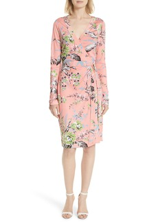Diane Von Furstenberg DVF Julian Floral Silk Wrap Dress
