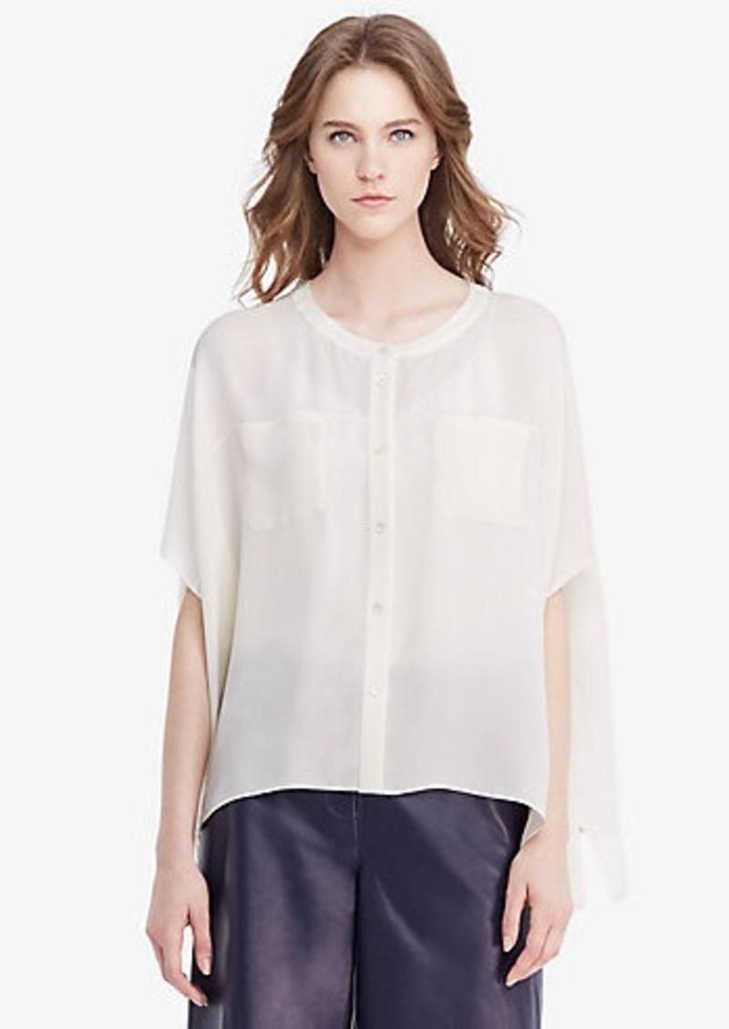 Diane Von Furstenberg DVF Karrly Silk Tunic Top