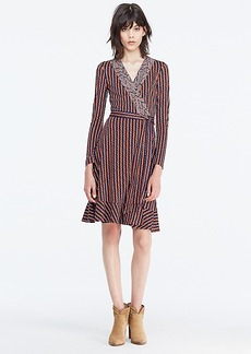 DVF Kayleen Silk Jersey and Chiffon Wrap Dress