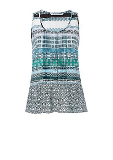 DVF Kenna Printed Peplum Top