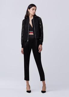 Diane Von Furstenberg DVF Kennadie Lace Bomber Jacket