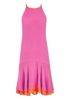 DVF Kera Contrast Ruffle Dress
