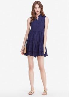 DVF Kit Cotton Eyelet Shirt Dress