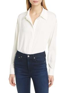 Diane Von Furstenberg DVF Leanna Stretch Silk Button-Up Shirt