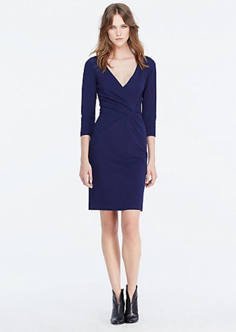 Diane Von Furstenberg DVF Leora Three Quarter Sleeve Fitted Dress