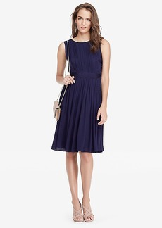 DVF Letty Gathered Chiffon A-line Dress