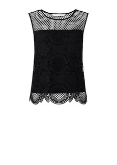 DVF Lila Spiral Lace Crop Top