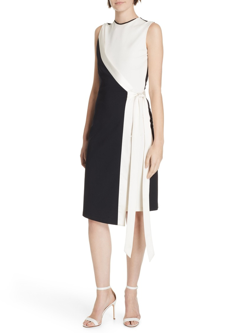 DVF Lindsey Asymmetrical Faux Wrap Dress