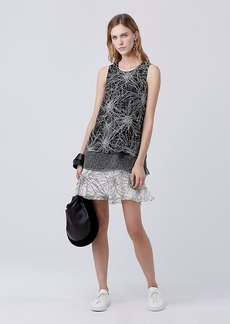 DVF Liza Tiered Shift Dress