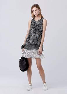 DVF Liza Tiered Shift Dress