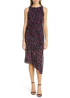Diane Von Furstenberg DVF Maia Asymmetrical Mesh Sheath Dress