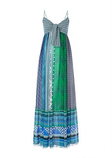 DVF Malina Tie Front Maxi Dress