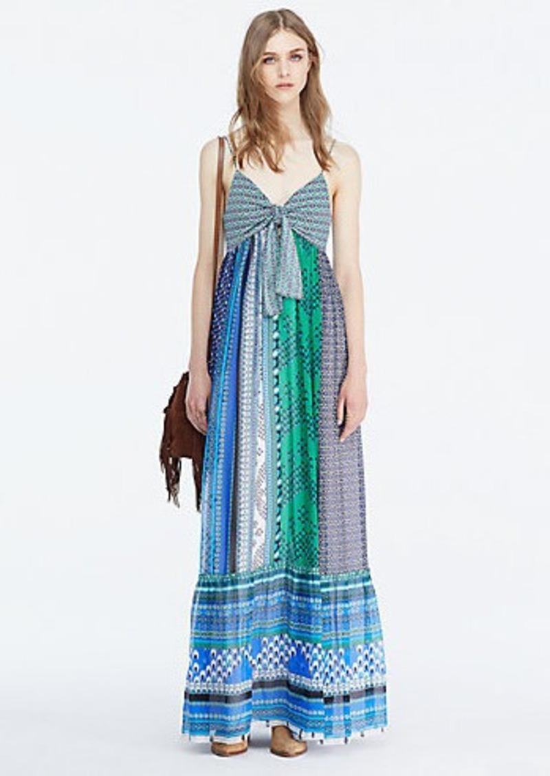 Diane Von Furstenberg DVF Malina Tie Front Maxi Dress