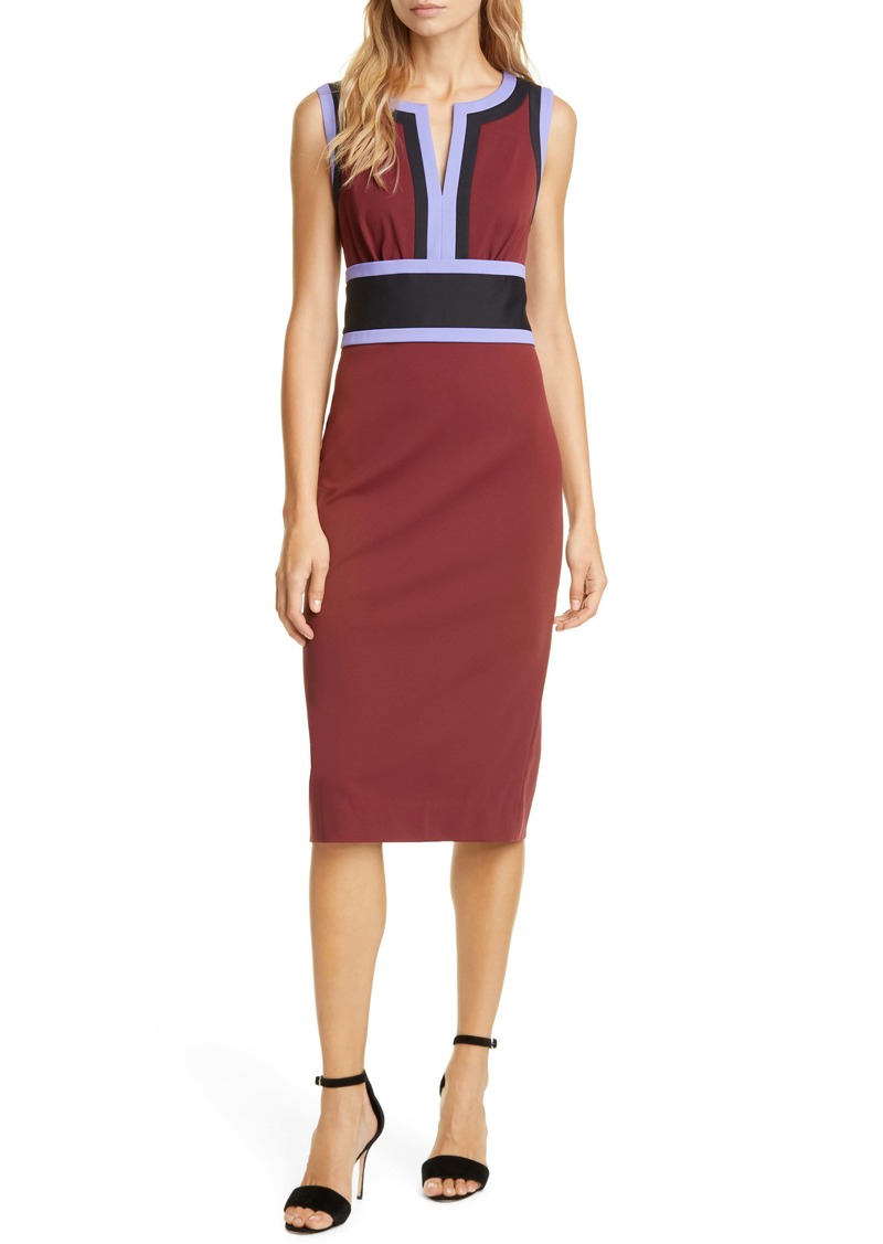 Diane Von Furstenberg DVF Maribel Colorblock Sleeveless Sheath Dress