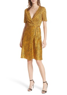 Diane Von Furstenberg DVF Marigold Silk Wrap Dress