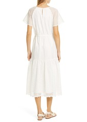 Diane Von Furstenberg DVF Marlowe Eyelet Midi Dress
