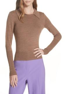 Diane Von Furstenberg DVF Merino Wool Blend Polo Sweater