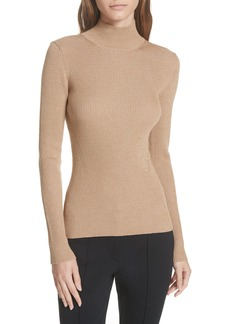 Diane Von Furstenberg DVF Metallic Mock Neck Sweater