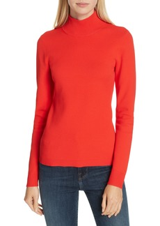 Diane Von Furstenberg DVF Mock Neck Back Cutout Sweater