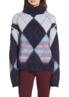Diane Von Furstenberg DVF Mohair & Alpaca Blend Turtleneck Sweater