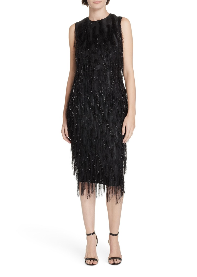 Diane Von Furstenberg DVF Nadi Fringe Sheath Dress