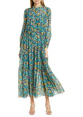 Diane Von Furstenberg DVF Nea Floral Long Sleeve Shirtdress