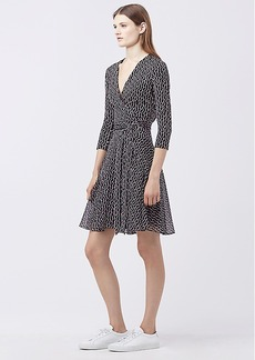 DVF NEW IRINA COMBO WRAP DRESS