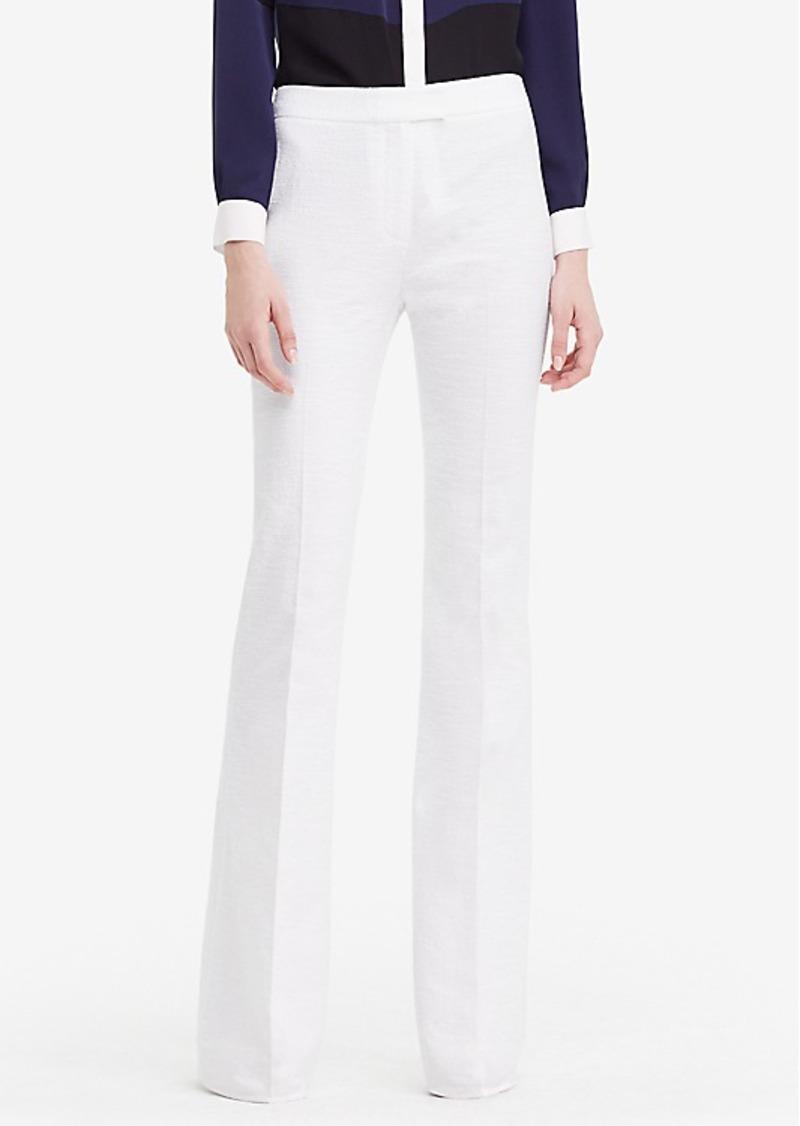Diane Von Furstenberg DVF Nicola Textured Cotton Wide Leg Pant