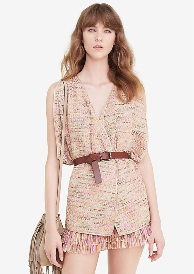 Diane Von Furstenberg DVF Novata Metallic Tweed Vest