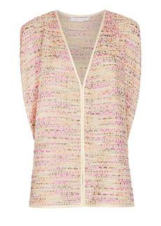 DVF Novata Metallic Tweed Vest