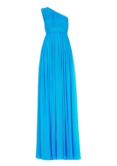DVF Ophelia One-Shoulder Pleated Gown