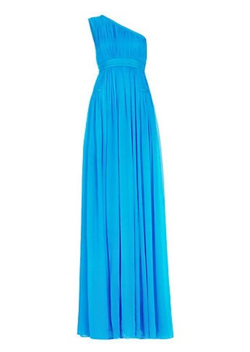 Diane Von Furstenberg DVF Ophelia One-Shoulder Pleated Gown
