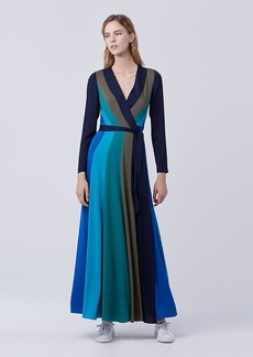 DVF Penelope Maxi Wrap Dress