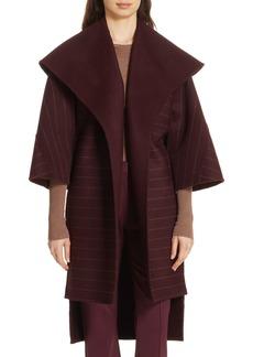 Diane Von Furstenberg DVF Pinstripe Wool Blend Coat