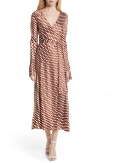 Diane Von Furstenberg DVF Polka Dot Silk Wrap Dress