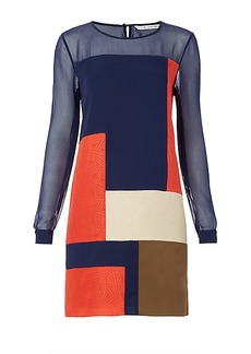DVF Raegan Colorblock Silk Dress