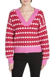 Diane Von Furstenberg DVF Rib Knit Angora Sweater