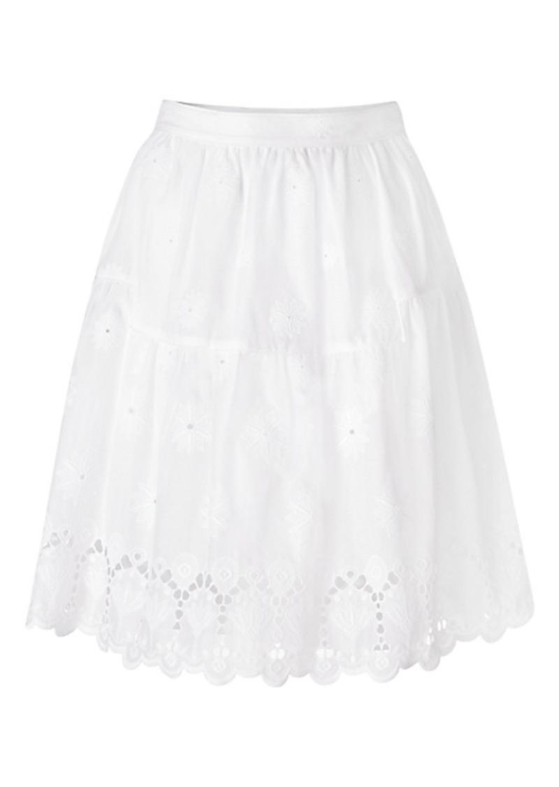 Diane Von Furstenberg DVF Sadey Cotton Eyelet Full Skirt