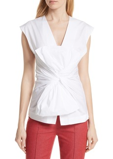 Diane Von Furstenberg DVF Sculptured Bow Front Blouse