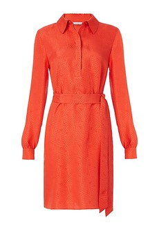 DVF Seanna Textured Shirt Dress